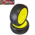 RUEDAS 1/8 OFF ROAD COMP. MICRO PIN SUPER SOFT LLANTA AMARILLA (2U.)