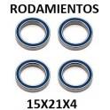 Rodamiento XTR 15x21x4.  (4)
