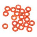Arandelas ajuste Naranjas 3x6x0.75mm (20und)
