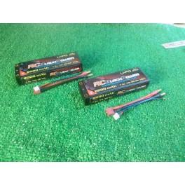 Baterias lipo RCBlackPower 8.000mah 7,4V 100/C banana 5mm (2 UND )