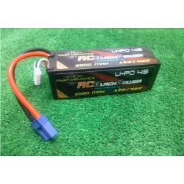 Baterias lipo RCBlackPower 2UND  6.500mah 130/90c 14.8v.Conector EC5.