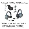 Auricular HD 1 MECANICO + 2 PILOTOS.