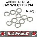 ARANDELAS AJUSTE CAMPANA 0.1mm (12UND)