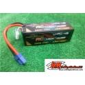 Baterias lipo RCBlackPower 6.500mah 130/90c 14.8v.Conector EC5.