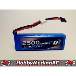 BATERÍA LIPO RX 2500MAH 7,4V OPTIONE.